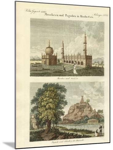 Mosques and Pagodas in Hindustan--Mounted Giclee Print