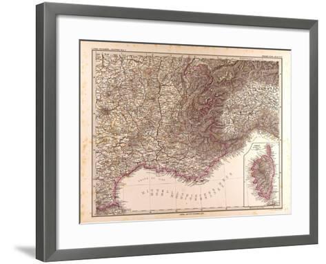 Map of France, 1874--Framed Art Print