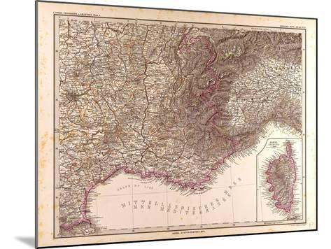 Map of France, 1874--Mounted Giclee Print