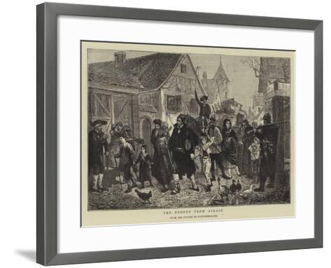The Exodus from Alsace--Framed Art Print