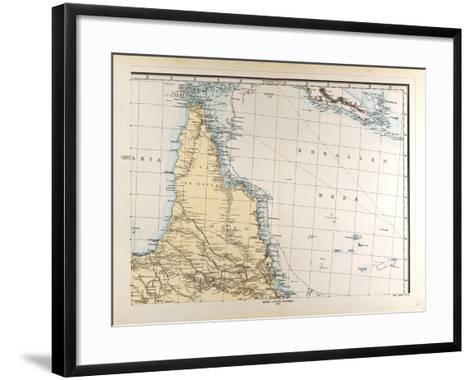 Map of Australia, 1872--Framed Art Print