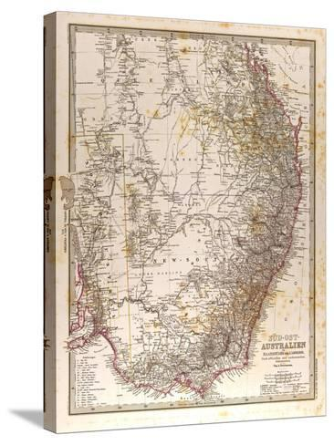 Map of Australia, 1872--Stretched Canvas Print
