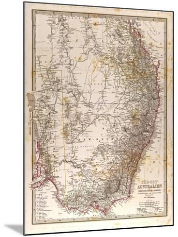 Map of Australia, 1872--Mounted Giclee Print
