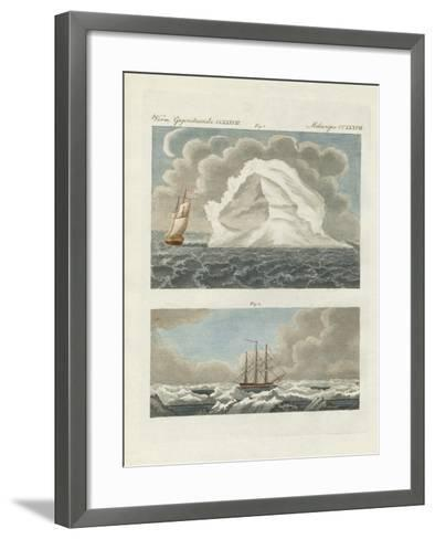 Icebergs and Icefields--Framed Art Print