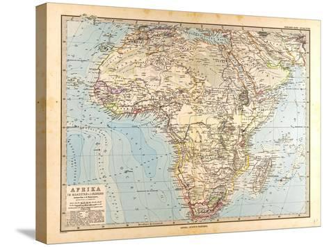 Map of Africa, 1872--Stretched Canvas Print