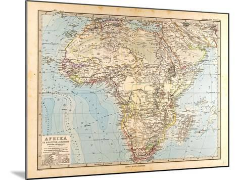 Map of Africa, 1872--Mounted Giclee Print
