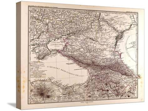 Map of Russia, 1873--Stretched Canvas Print