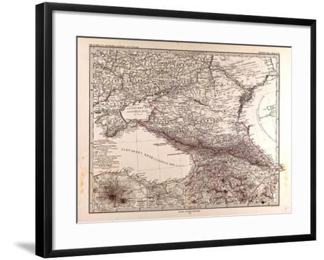 Map of Russia, 1873--Framed Art Print