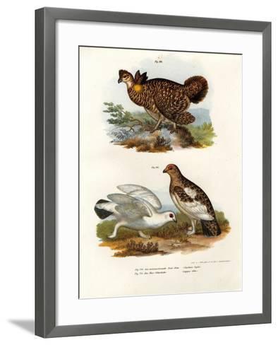 Pinnated Grouse, 1864--Framed Art Print