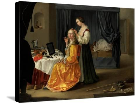 Lady at Her Toilet, C.1650-60--Stretched Canvas Print