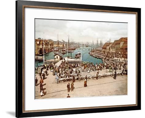 Fisketorget, Bergen, Pub. C.1900--Framed Art Print