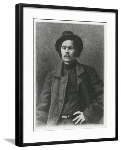 Maxim Gorky--Framed Art Print