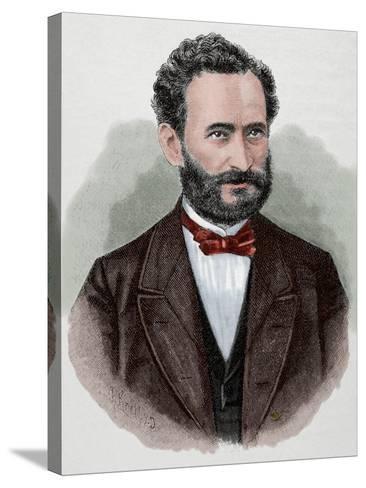 Eduard Lasker (1829-1884). German Politician and Jurist--Stretched Canvas Print