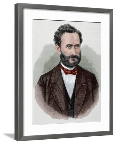 Eduard Lasker (1829-1884). German Politician and Jurist--Framed Art Print