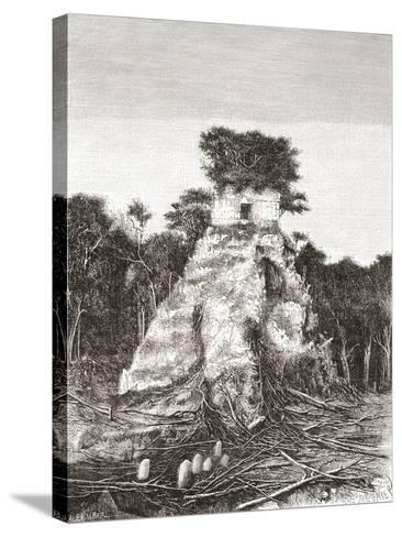 Tikal, Guatemala, Central America: the Temple of the Jaguar--Stretched Canvas Print