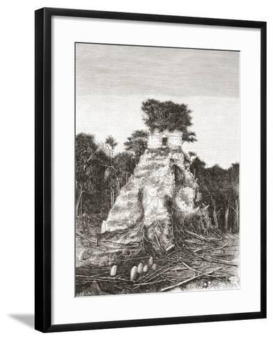 Tikal, Guatemala, Central America: the Temple of the Jaguar--Framed Art Print