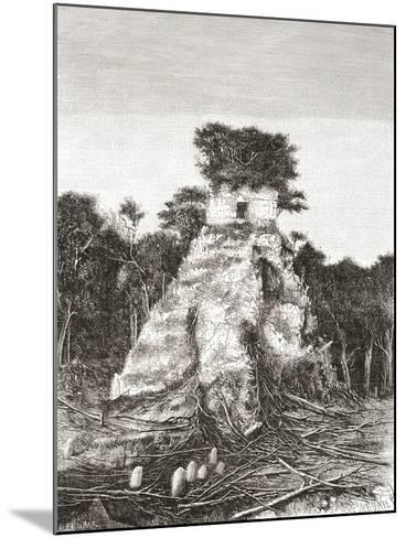 Tikal, Guatemala, Central America: the Temple of the Jaguar--Mounted Giclee Print