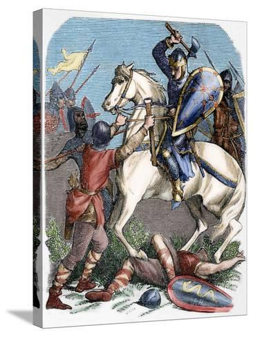 Louis VI (1081-1137) at the Battle of Brenneville, 1119--Stretched Canvas Print