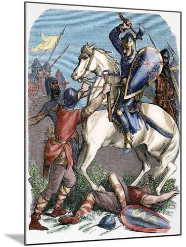 Louis VI (1081-1137) at the Battle of Brenneville, 1119--Mounted Giclee Print