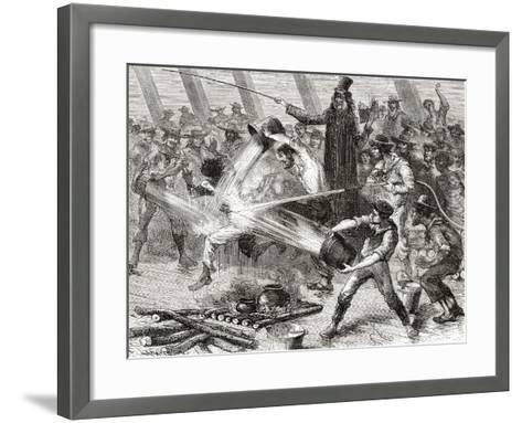 A Line Crossing Ceremony Aboard the Simon Bolivar--Framed Art Print