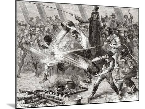 A Line Crossing Ceremony Aboard the Simon Bolivar--Mounted Giclee Print