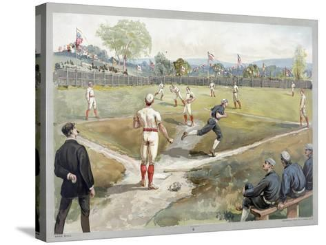 Baseball Game, 1888--Stretched Canvas Print
