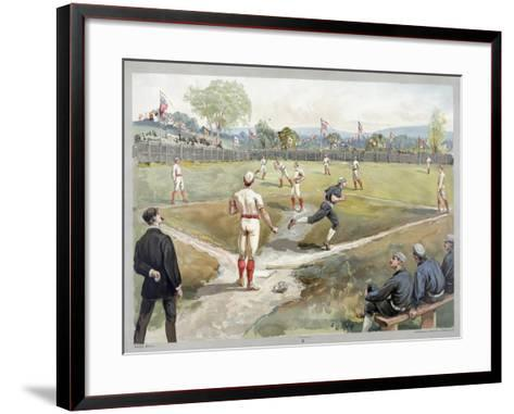 Baseball Game, 1888--Framed Art Print