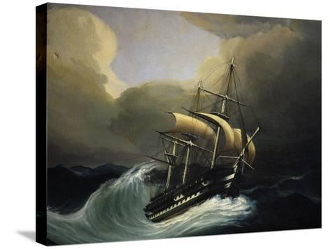 Vessel with Two Decks in Storm, 1858, Oil on Canvas by Cheri Dubreuil--Stretched Canvas Print