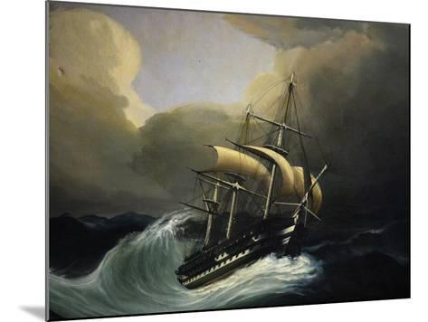 Vessel with Two Decks in Storm, 1858, Oil on Canvas by Cheri Dubreuil--Mounted Giclee Print