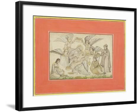 Angels Attend Mary and Jesus, C.1665--Framed Art Print