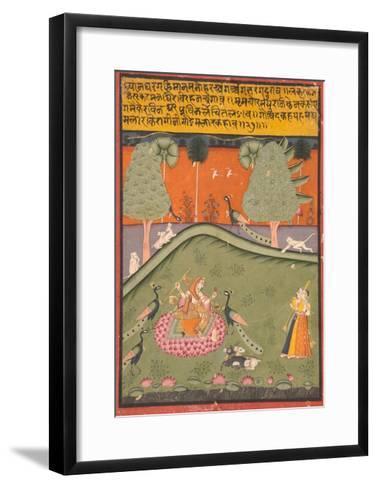 Gaurmalar Ragini of Megh, C.1720--Framed Art Print