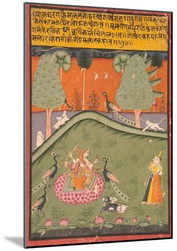 Gaurmalar Ragini of Megh, C.1720--Mounted Giclee Print