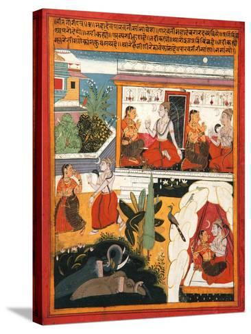 Shiva and Gauri, C.1640--Stretched Canvas Print
