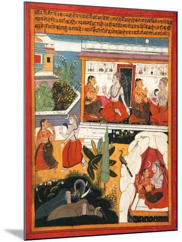 Shiva and Gauri, C.1640--Mounted Giclee Print