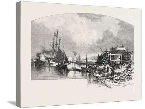 Owen Sound, Looking Up the Harbour, Canada, Nineteenth Century--Stretched Canvas Print