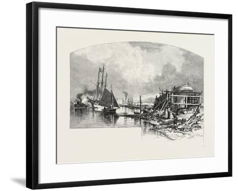 Owen Sound, Looking Up the Harbour, Canada, Nineteenth Century--Framed Art Print