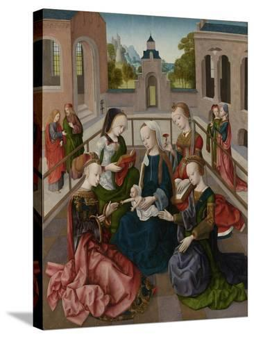 The Virgin and Child with Four Holy Virgins, C.1495-1500--Stretched Canvas Print