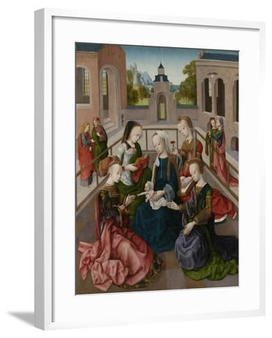 The Virgin and Child with Four Holy Virgins, C.1495-1500--Framed Art Print