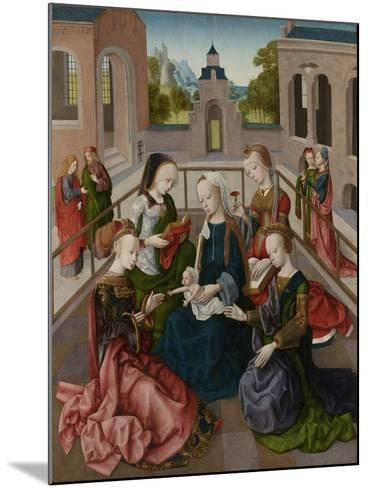 The Virgin and Child with Four Holy Virgins, C.1495-1500--Mounted Giclee Print
