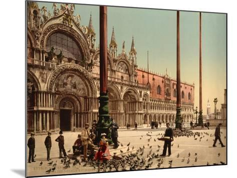 Pigeons in St. Mark's Place, Venice, Italy, C.1890-C.1900--Mounted Giclee Print
