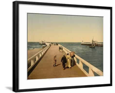 Entrance to Port, Ostend, Belgium; C.1890-C.1900--Framed Art Print