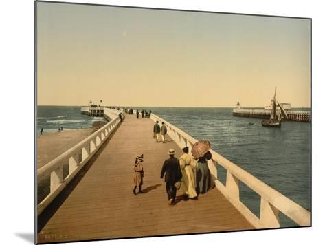 Entrance to Port, Ostend, Belgium; C.1890-C.1900--Mounted Giclee Print