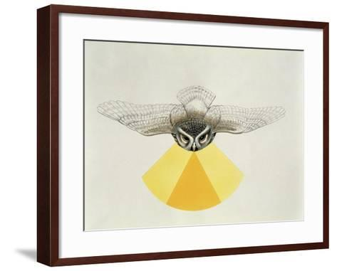 Close-Up of an Owl with its Field of Vision--Framed Art Print