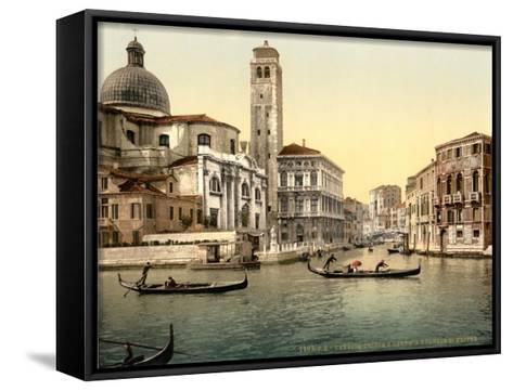 San Geremia Church, Venice, Italy, C.1890-C.1900--Framed Canvas Print