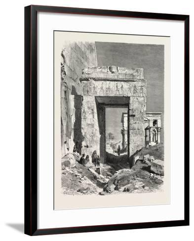 From the Temple of Isis at Philae. Egypt, 1879--Framed Art Print