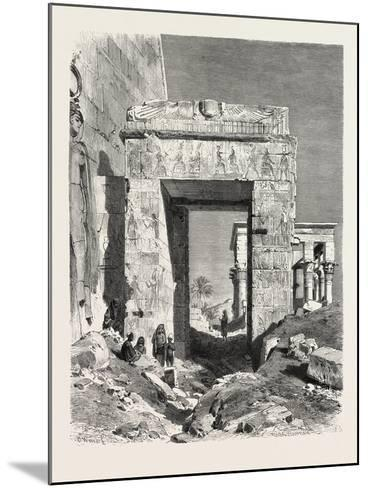 From the Temple of Isis at Philae. Egypt, 1879--Mounted Giclee Print