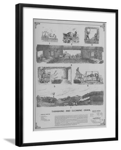 Agricultural Implements - Thrashing and Cleaning Grain--Framed Art Print