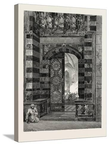 Gate of Pottage at the Mosque of El-Azhar, Egypt, 1879--Stretched Canvas Print