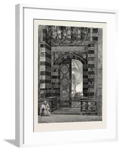 Gate of Pottage at the Mosque of El-Azhar, Egypt, 1879--Framed Art Print
