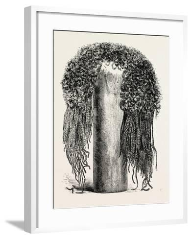 Old Egyptian Lady's Wig, in the British Museum, Egypt, 1879--Framed Art Print